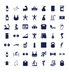 49 fitness icons vector