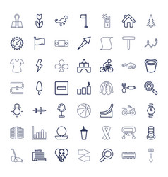 49 set icons vector