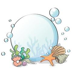 A crystal ball with seashells vector