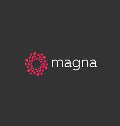 Abstract color dot logo icon design modern minimal vector