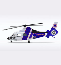 Ambulance helicopter medical sanitary aviation vector