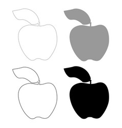 apple the black and grey color set icon vector image