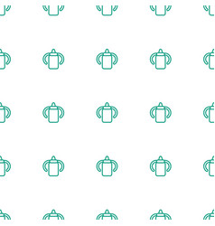 Baby bottle icon pattern seamless white background vector