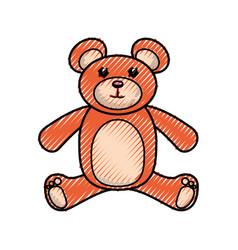 Bear toy cartoon vector