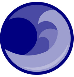 blue wave icon graphic vector image