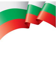 Bulgaria flag on a white vector
