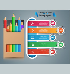 business education infographic pencil icon vector image