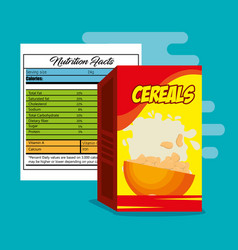 Cereals box with nutrition bag vector