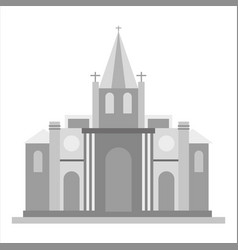 church icon gray monochrome of vector image