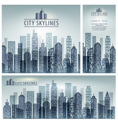 City skyline poster vector