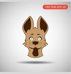 color dog icon eps 10 vector image