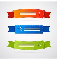 Colorful Ribbons Labels Set vector image vector image