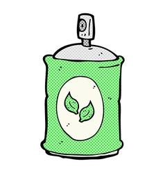 comic cartoon natural spray vector image