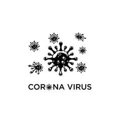 corona virus vector image