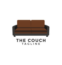 couch sofa graphic design element template vector image