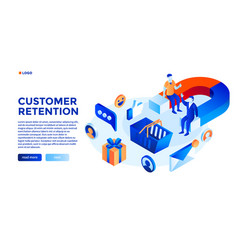 Customer attraction concept background isometric vector