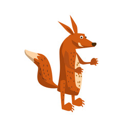 Cute fox forest animal suitable for books vector