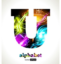 Design Abstract Letter U vector image