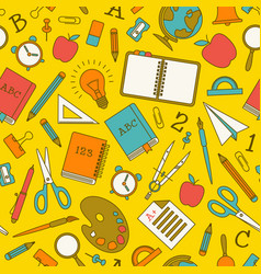 educational elements seamless pattern vector image