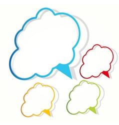 empty cloud frame sticker vector image