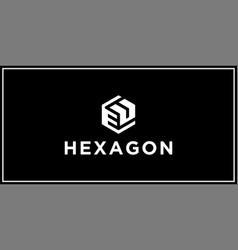 eu hexagon logo design inspiration vector image