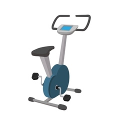 Exercise bike cartoon icon vector
