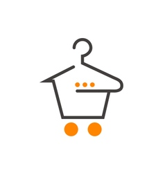 Fashion shopping cart vector