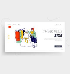 female shopaholic character shopping landing page vector image
