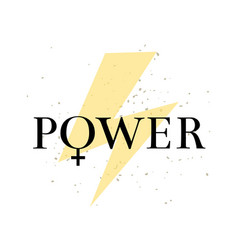 feminism lettring girl power isolated on vector image