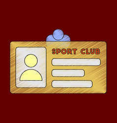 Flat shading style icon personal card sports club vector