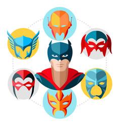 flat superhero concept vector image