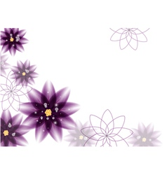 floral background - purple flowers vector image