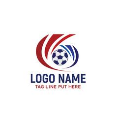 Football logoidentity design vector