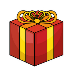 Giftbox present celebration icon vector