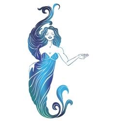 girl mermaid vector image