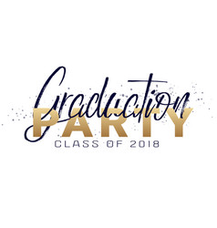 Graduation label text for graduation vector