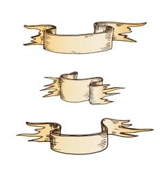 Hand drawn ribbons vector