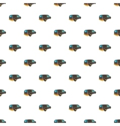 Hearse pattern cartoon style vector