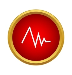 Heart rate icon simple style vector image