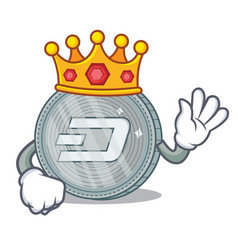 King dash coin character cartoon vector