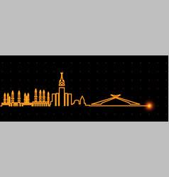 Mecca light streak skyline vector