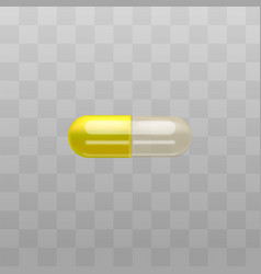 medical drug or pills duo capsules icon vector image