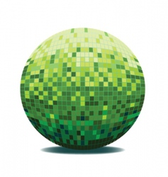 mirror ball vector image