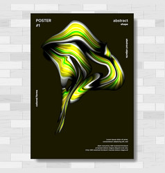 modern abstract cover poster colorful wave vector image