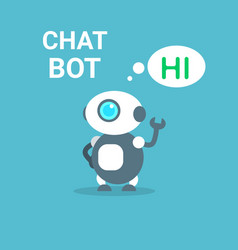 modern robot free chat bot artificial intelligence vector image