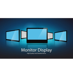 Monitor Display Design vector