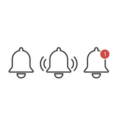 notification bells icon isolated reminder or vector image