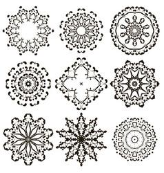 oriental geometric ornament vector image