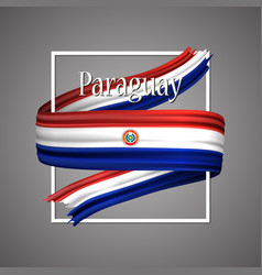 paraguay flag official national paraguayan symbol vector image