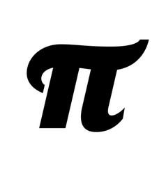 Pi symbol black and white image vector